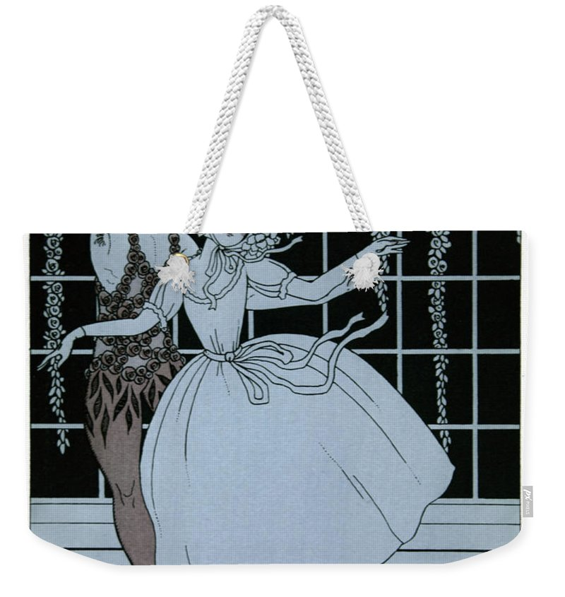 Ballet Weekender Tote Bag featuring the painting Spectre De La Rose by Georges Barbier