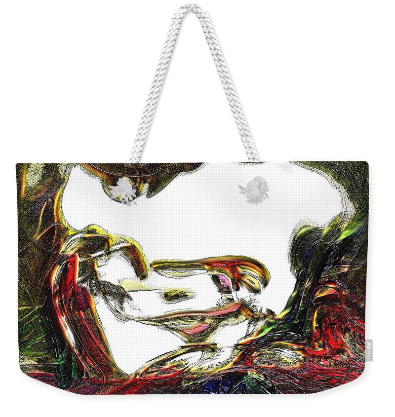Abstract Weekender Tote Bag featuring the digital art Specularity by Richard Thomas