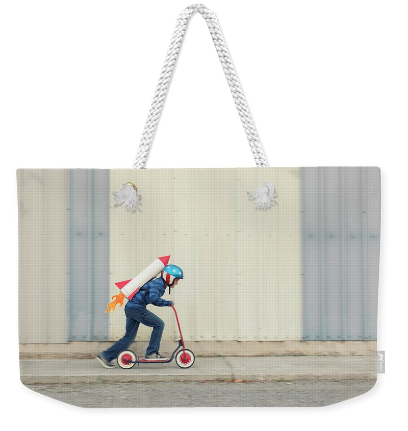 Taking Off Weekender Tote Bag featuring the photograph Speed by Richvintage