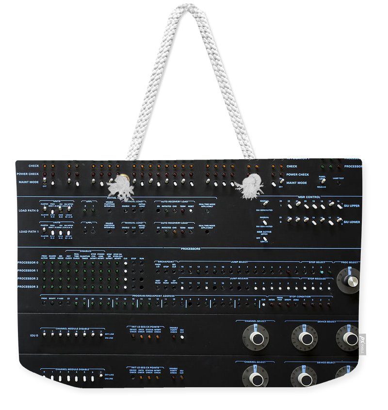 Bear Weekender Tote Bag featuring the photograph Sperry Univac 1100 by Edward Fielding