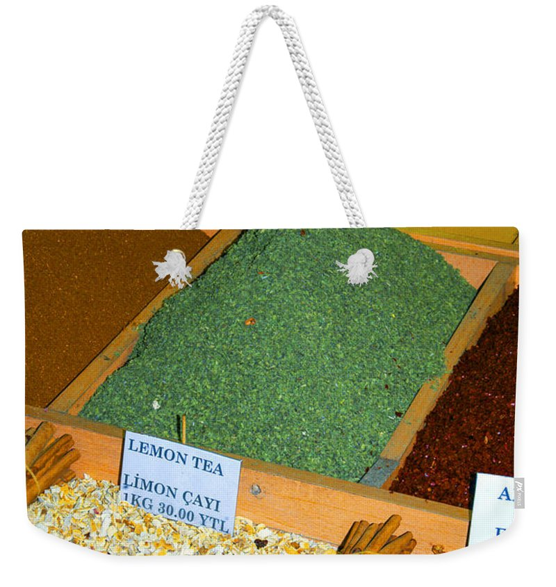 Spice Bazaar Weekender Tote Bag featuring the photograph Spice Bar by Bob Phillips