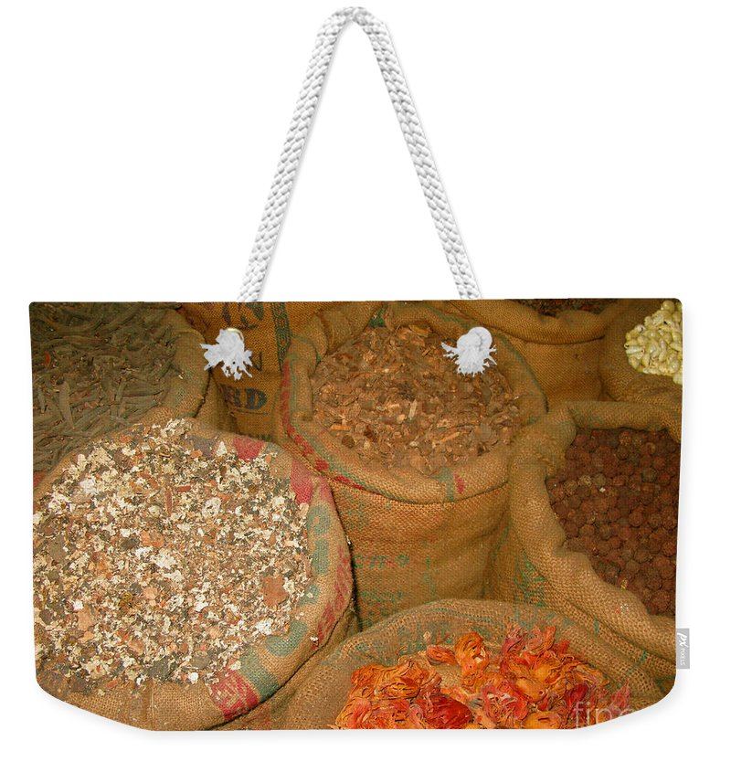 Kerala Weekender Tote Bag featuring the photograph Spices From The East by Mini Arora
