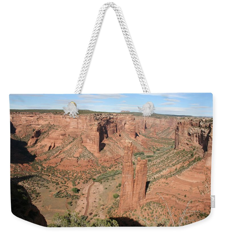 Spider Rock Weekender Tote Bag featuring the photograph Spider Rock Canyon De Chelly by Christiane Schulze Art And Photography