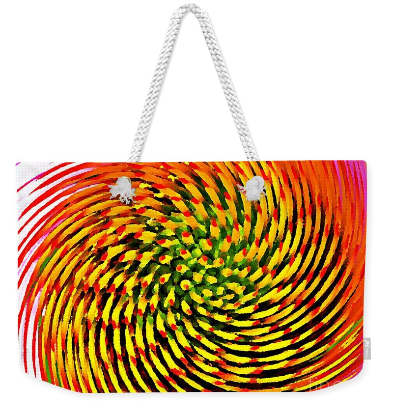 Nature Weekender Tote Bag featuring the photograph Spinning Watercolor by Chris Berry