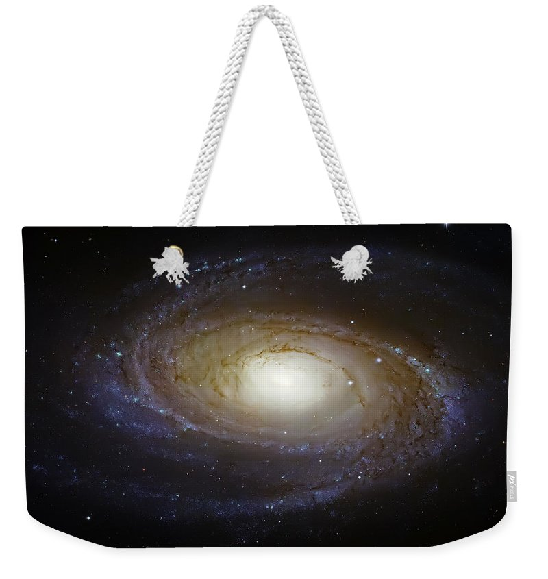 Universe Weekender Tote Bag featuring the photograph Spiral Galaxy M81 by Jennifer Rondinelli Reilly - Fine Art Photography