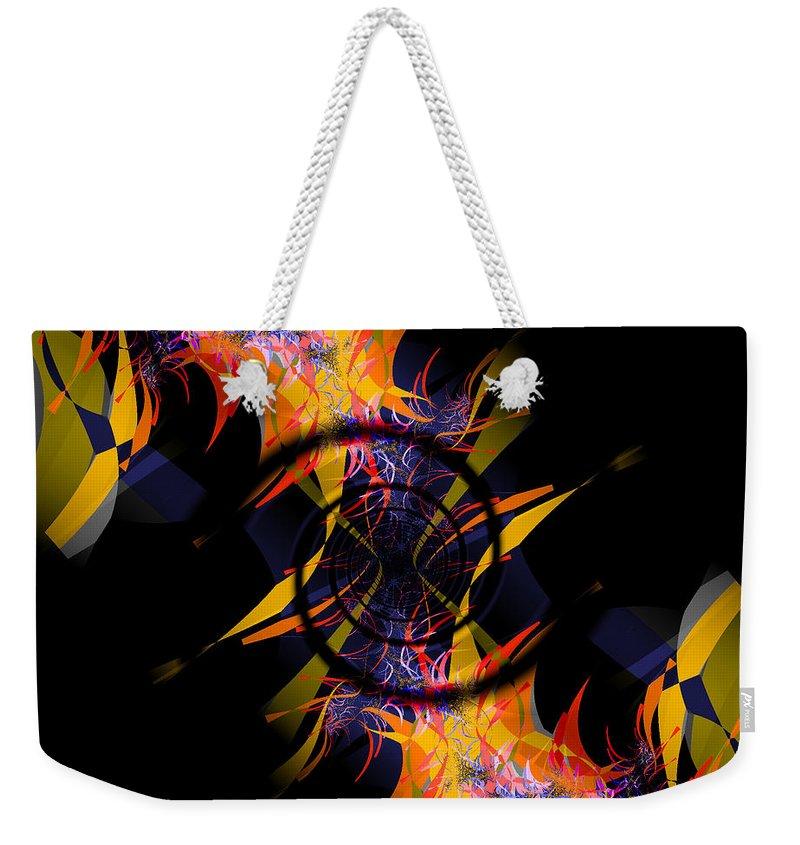 Fractal Art Weekender Tote Bag featuring the digital art Spiral Of Burning Desires by Elizabeth McTaggart