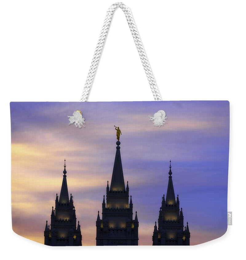 Salt Lake City Weekender Tote Bag featuring the photograph Spires by Chad Dutson