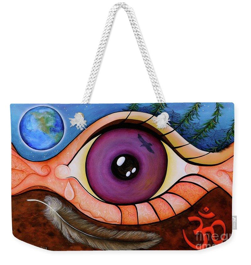 Spiritual Paintings Weekender Tote Bag featuring the painting Spirit Eye by Deborha Kerr