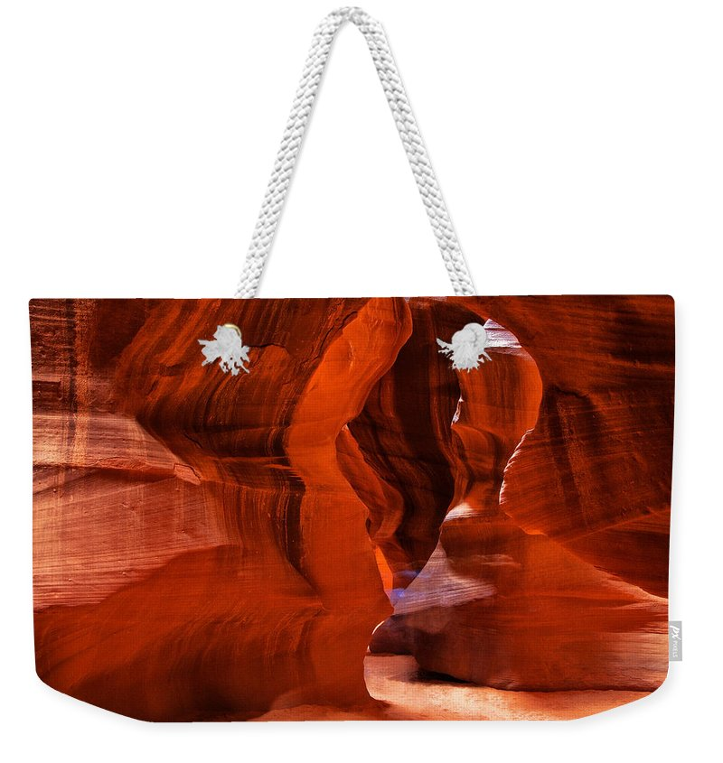 Antelope Canyon Weekender Tote Bag featuring the photograph Spirit Walk by Diana Powell