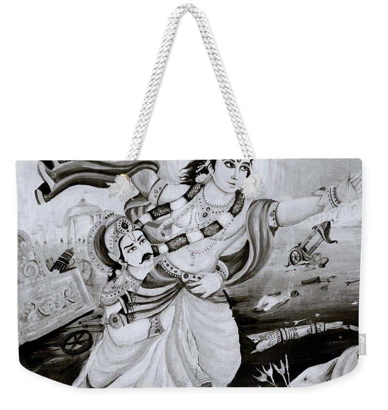Spirituality Weekender Tote Bag featuring the photograph Urban Faith by Shaun Higson