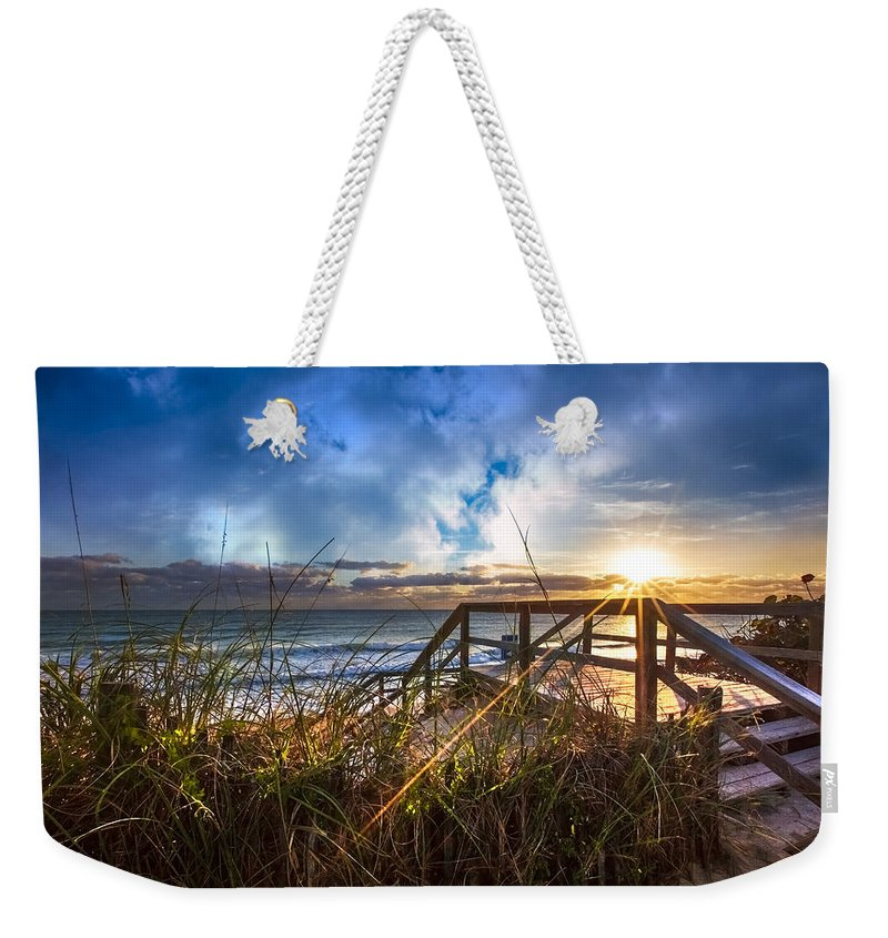 Christ Weekender Tote Bag featuring the photograph Spiritual Renewal by Debra and Dave Vanderlaan