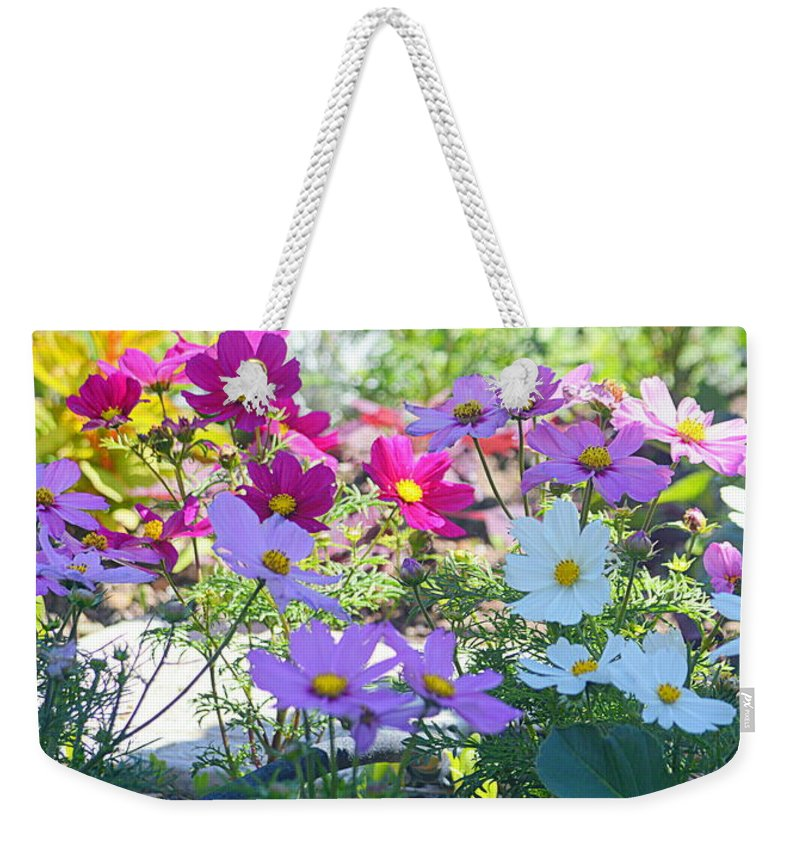 Flowers Weekender Tote Bag featuring the photograph Splash Of Color by AJ Schibig
