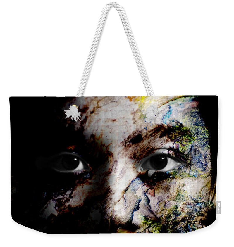 Splash Weekender Tote Bag featuring the painting Splash Of Humanity by Christopher Gaston