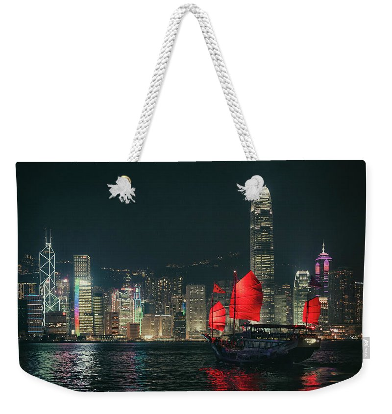 Outdoors Weekender Tote Bag featuring the photograph Splendid Asian City, Hong Kong by D3sign