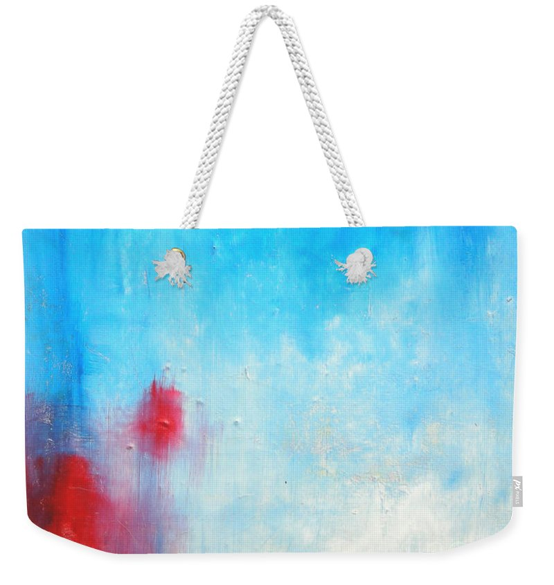 Abstract Painting Weekender Tote Bag featuring the painting Spot by Jeff Barrett