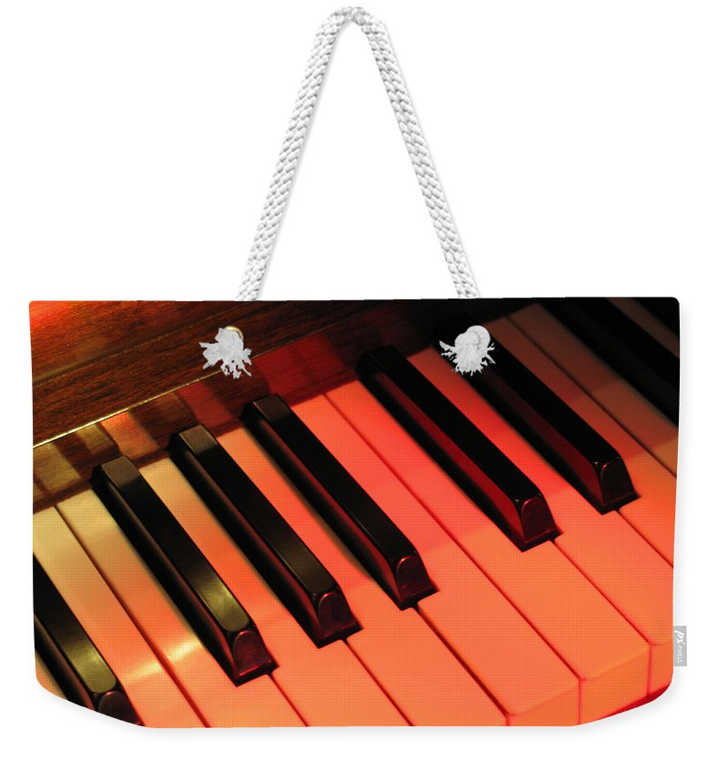 Piano Weekender Tote Bag featuring the photograph Spotlight On Piano by Ann Horn