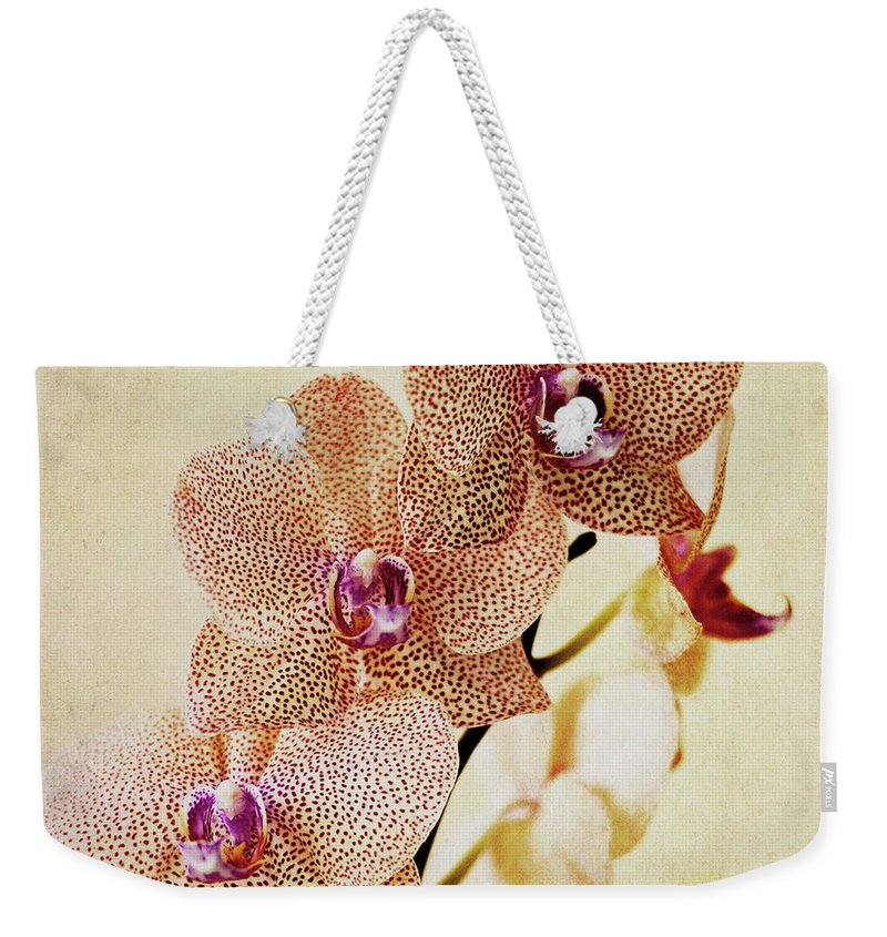 Petal Weekender Tote Bag featuring the photograph Spotted Orchid by Image By Sherry Galey
