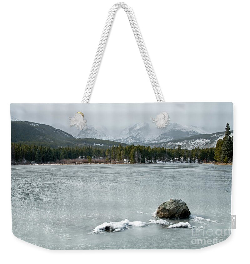 Autumn Weekender Tote Bag featuring the photograph Sprague Lake In Rocky Mountain National Park by Fred Stearns