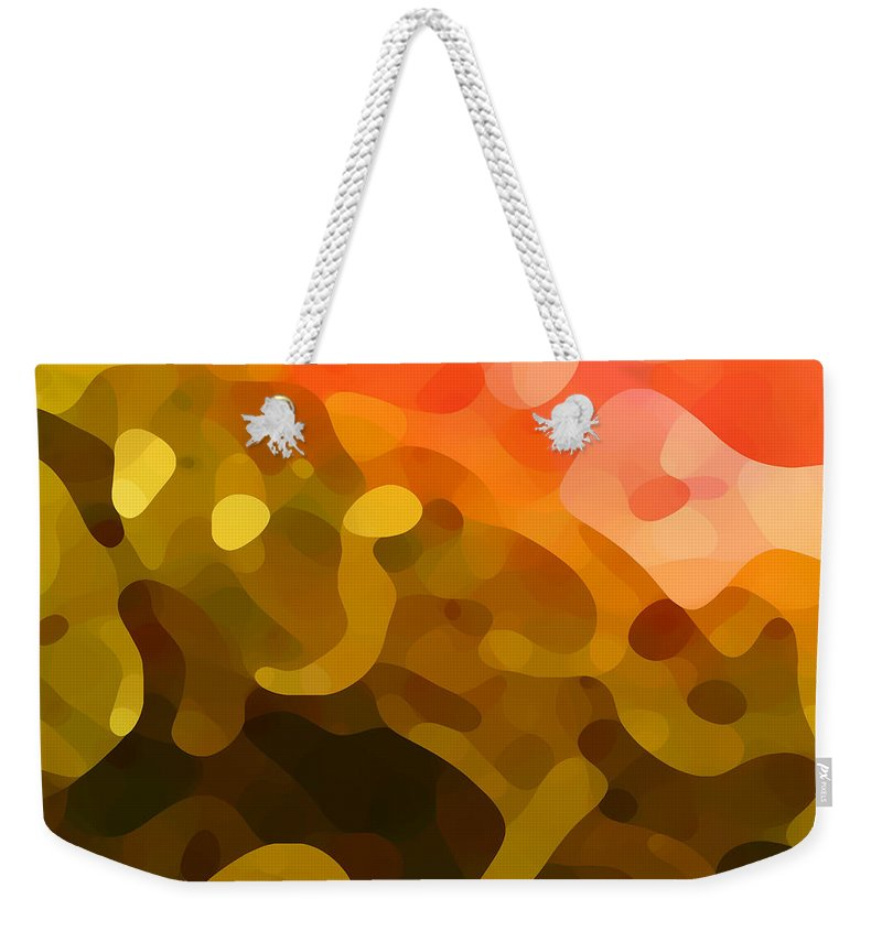 Abstract Weekender Tote Bag featuring the painting Spring Day by Amy Vangsgard
