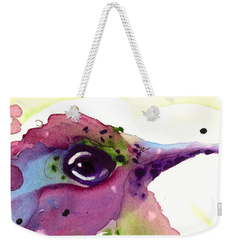 Original Watercolor Hummingbird Weekender Tote Bag featuring the painting Spring Dreaming by Dawn Derman