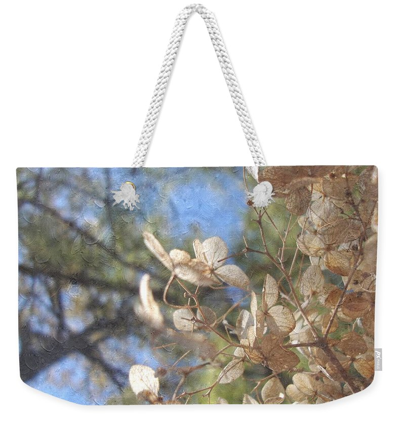 Flowers Weekender Tote Bag featuring the photograph Spring Fancies 4 by Annie Adkins