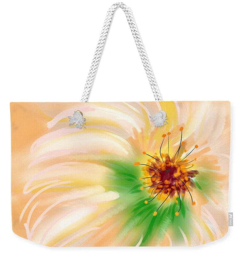Ipad Weekender Tote Bag featuring the painting Spring Flower by Angela Stanton