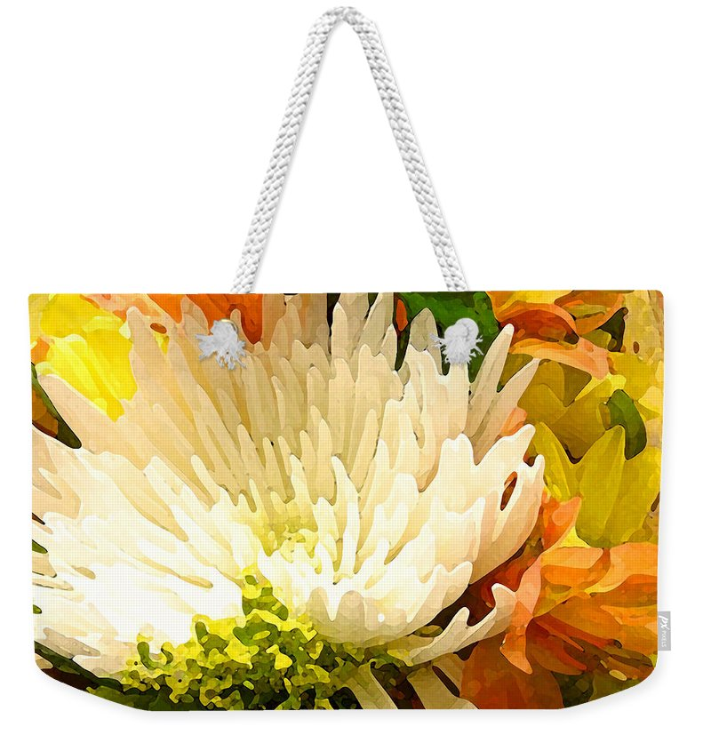Roses Weekender Tote Bag featuring the painting Spring Flower Burst by Amy Vangsgard