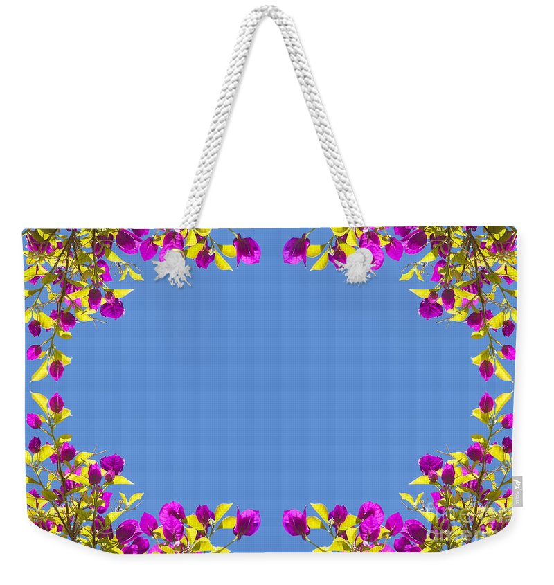 Tropical Weekender Tote Bag featuring the photograph Spring Flower Frame by Tim Hester