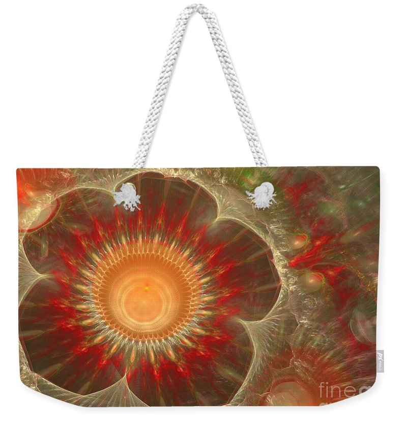 Abstract Weekender Tote Bag featuring the digital art Spring Flower by Martin Capek
