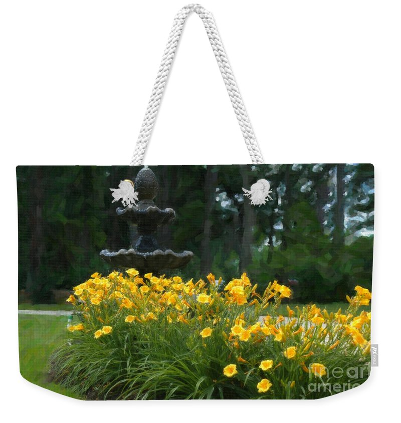 Spring Flowers Weekender Tote Bag featuring the digital art Spring Flowers by Dale Powell