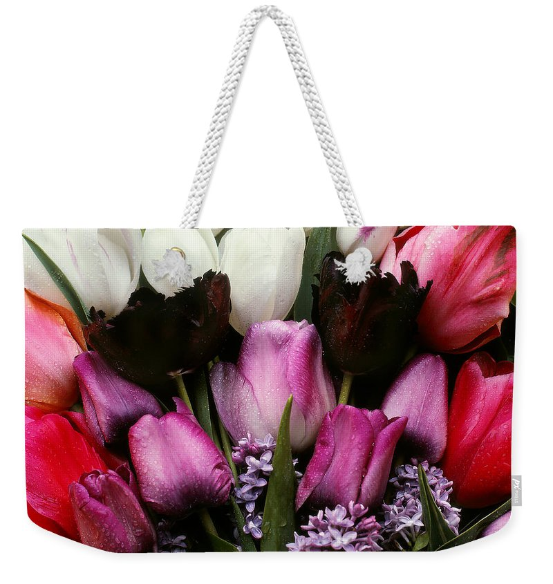 Flowers Weekender Tote Bag featuring the photograph Spring Flowers by Photophilous