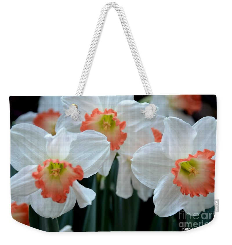 #jonquils Weekender Tote Bag featuring the photograph Spring Jonquils by Kathleen Struckle