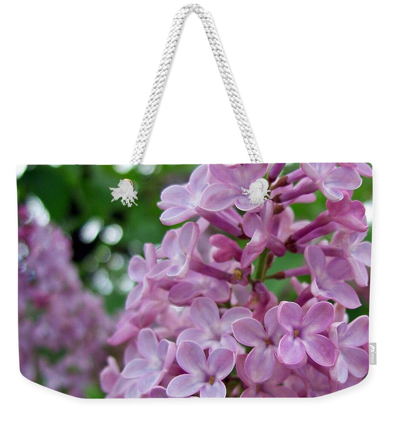 Spring Weekender Tote Bag featuring the photograph Spring Lilac by Tikvah's Hope