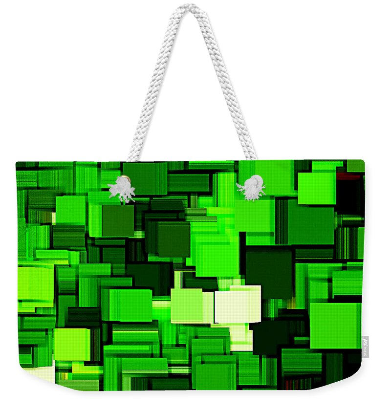 Abstract Weekender Tote Bag featuring the digital art Spring Modern Abstract Xiv by Lourry Legarde