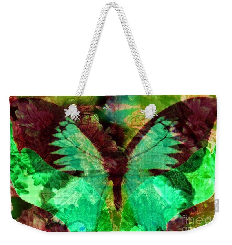 Fractal Art Weekender Tote Bag featuring the digital art Spring Mojo by Elizabeth McTaggart