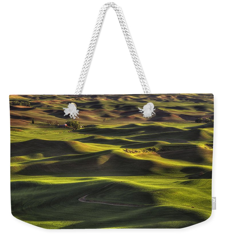 Wheat Weekender Tote Bag featuring the photograph Spring On The Palouse by Mark Kiver