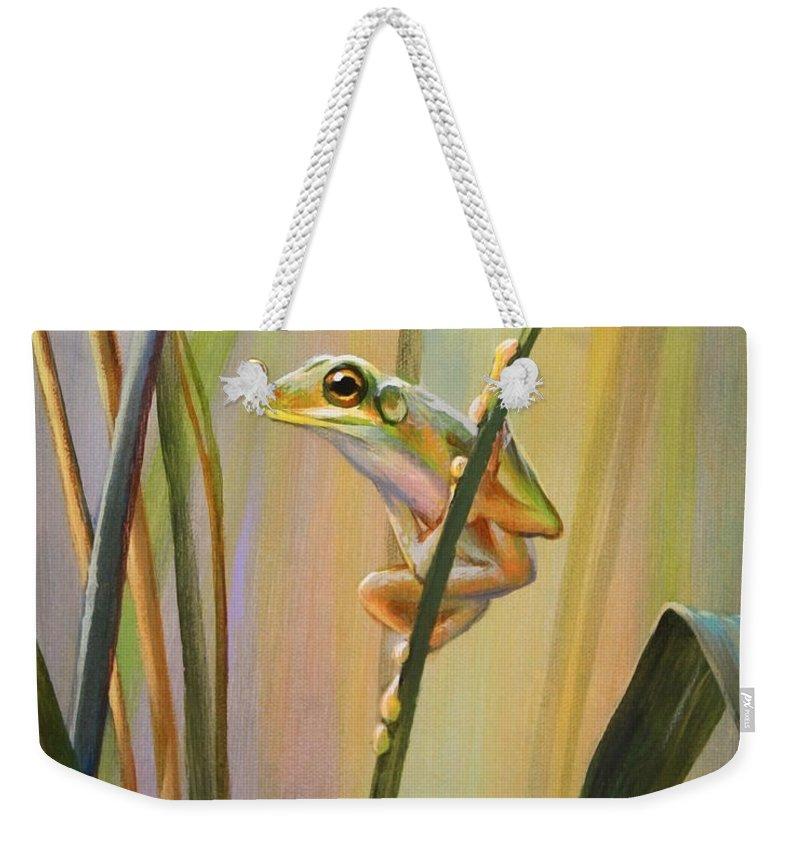 Frog Weekender Tote Bags