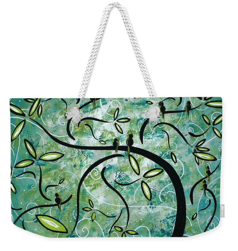 Wall Weekender Tote Bag featuring the painting Spring Shine by MADART by Megan Duncanson