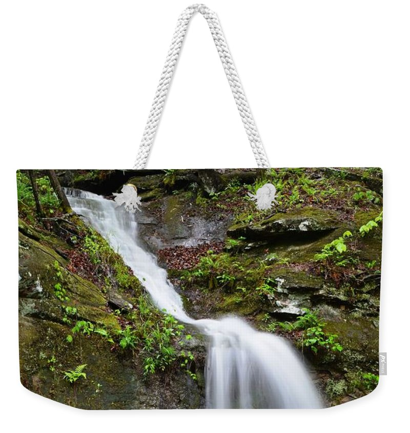 Waterfall Weekender Tote Bag featuring the photograph Spring Showers by Deanna Cagle