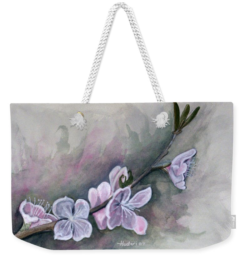 Rick Huotari Weekender Tote Bag featuring the painting Spring Splendor by Rick Huotari