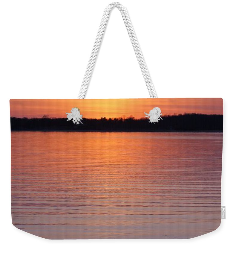 Beach Weekender Tote Bag featuring the photograph Spring Sunset by Karen Silvestri