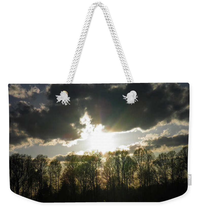Leaves Weekender Tote Bag featuring the photograph Spring Sunset by Nick Kirby