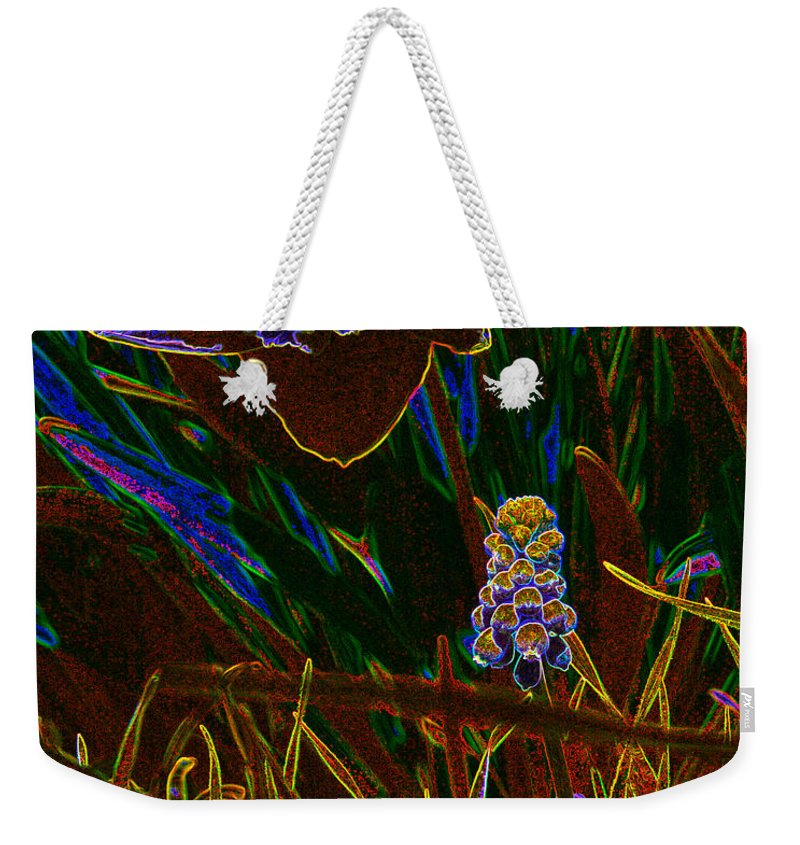 Flower Paintings Paintings Weekender Tote Bag featuring the photograph Spring Time In Lillyput by Mayhem Mediums