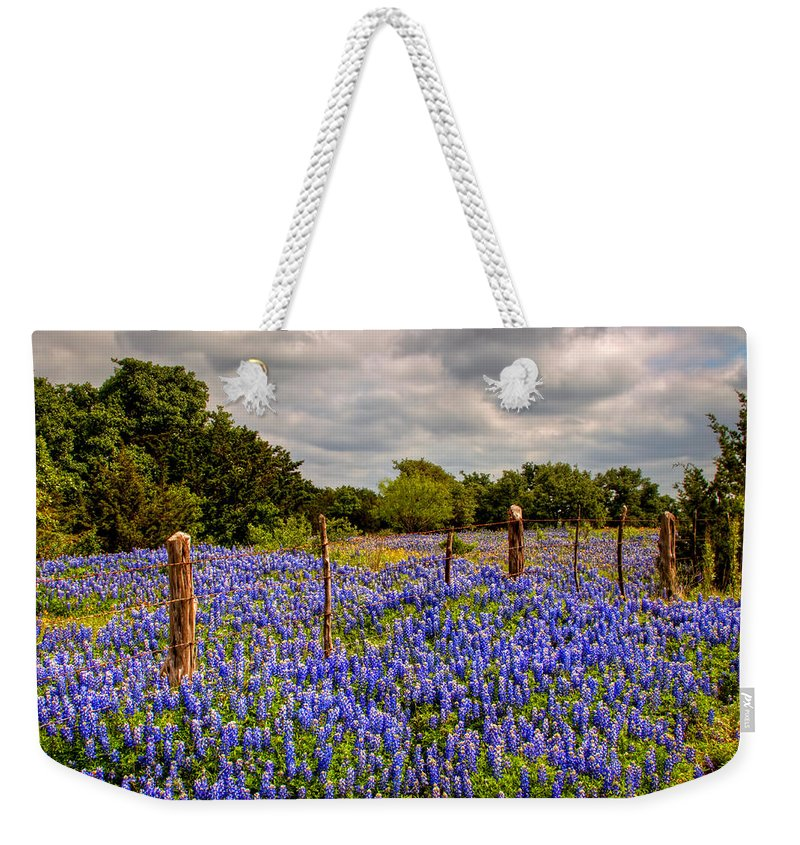 Texas Weekender Tote Bag featuring the photograph Springtime Beauty by Tom Weisbrook