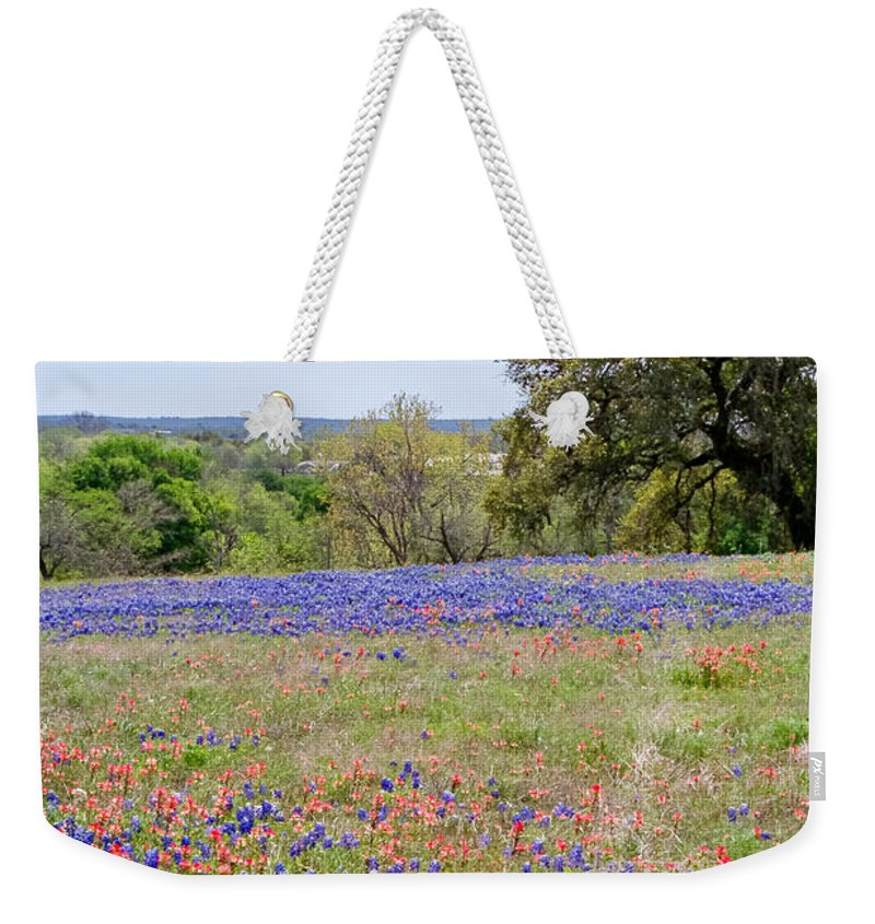 Springtime Weekender Tote Bag featuring the photograph Springtime In Texas by Gary Richards