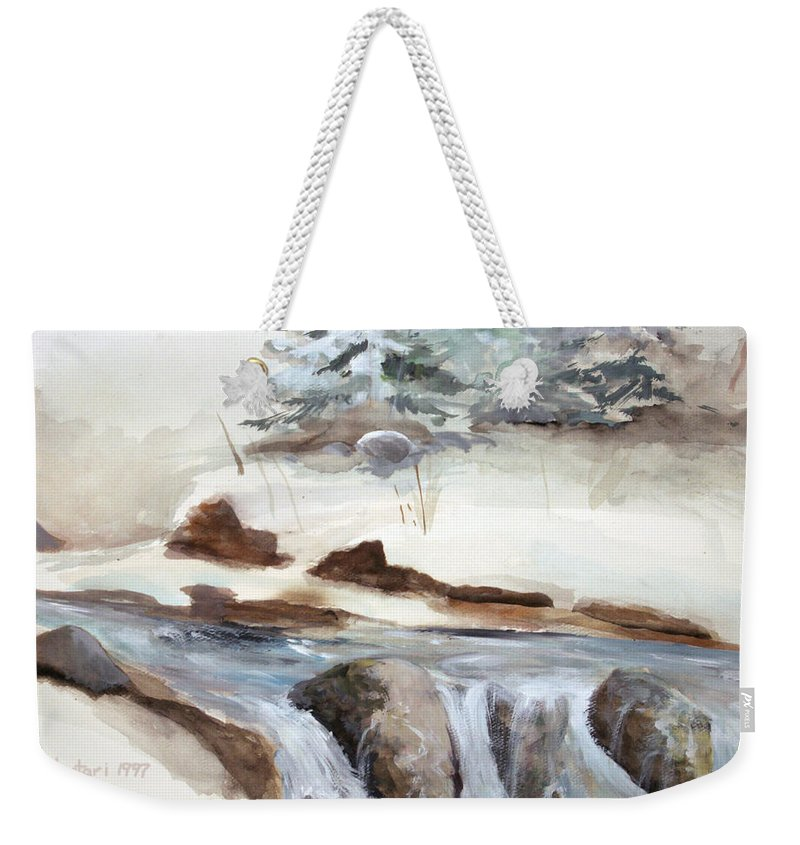 Rick Huotari Weekender Tote Bag featuring the painting Springtime by Rick Huotari