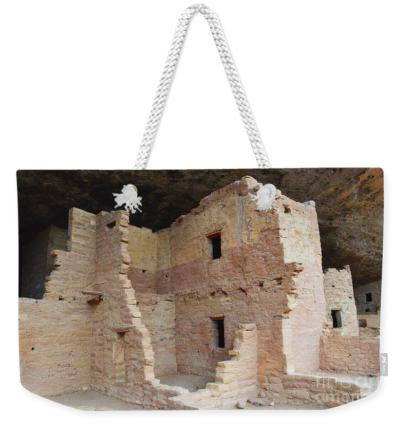 Colorado Weekender Tote Bag featuring the photograph Spruce Tree House Structure by Meandering Photography