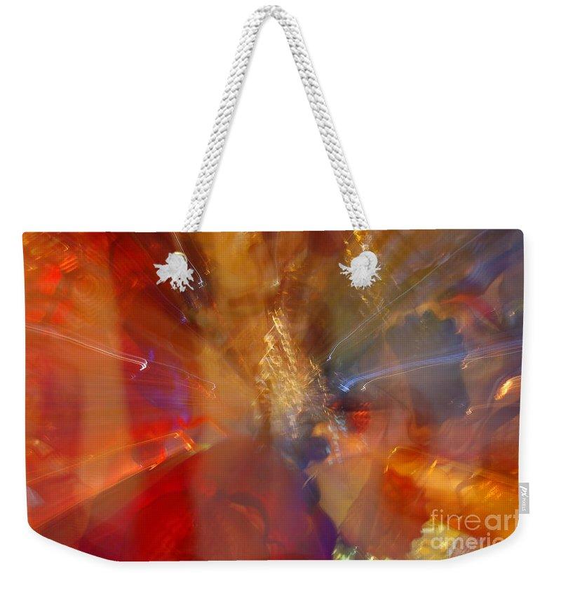 Katis Weekender Tote Bag featuring the photograph Spun Crystal by Randy J Heath