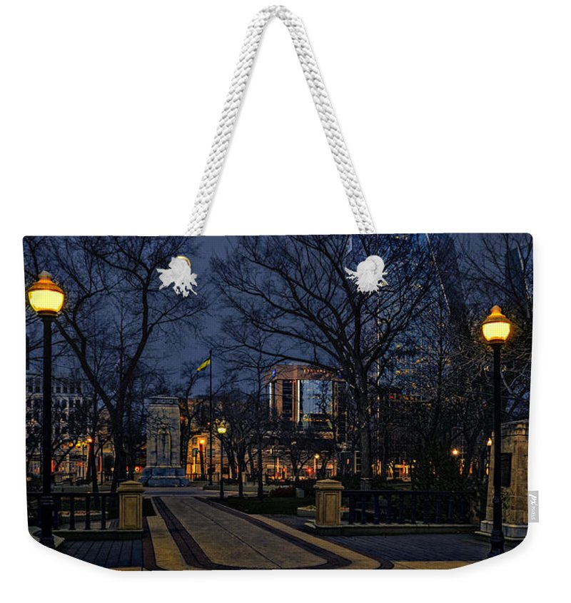 Photo Weekender Tote Bag featuring the photograph Square In Regina by Viktor Birkus