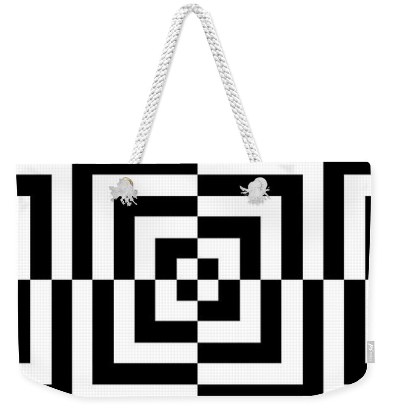 Abstract Weekender Tote Bag featuring the digital art Mind Games 12 Panoramic by Mike McGlothlen